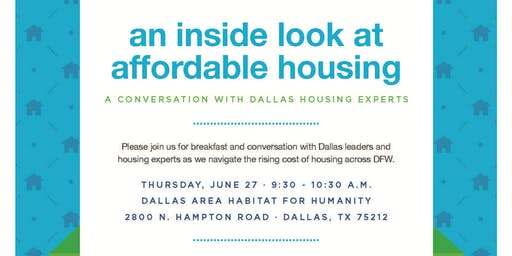 An Inside Look at Affordable Housing: Conversation with DFW housing experts