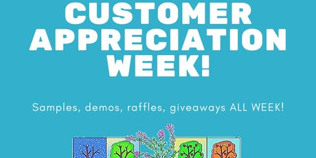 Thyme & Season's Customer Appreciation Week tickets
