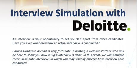 Interview Simulation with Deloitte tickets