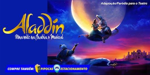 """DESCONTO! Espetáculo """"Aladin - Uma noite na Arábia, o Musical"""" no Teatro BTC"""