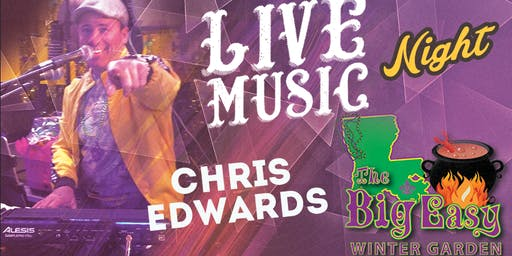 Chris Edwards Performing Live on The Big Easy Stage
