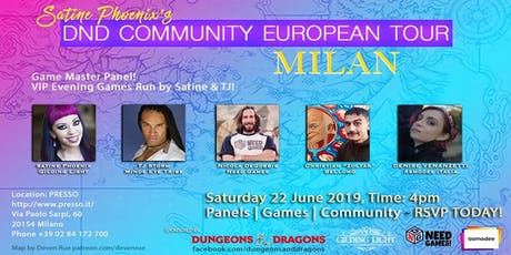 DnD Community European Tour Milan - Turno di Notte Edizione Speciale biglietti