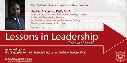 Lessons in Leadership Speaker Series - July 26, 2019