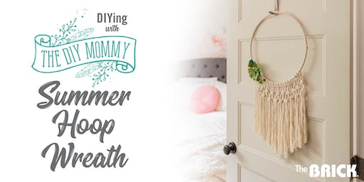 DIYing with The DIY Mommy: Summer Hoop Wreath