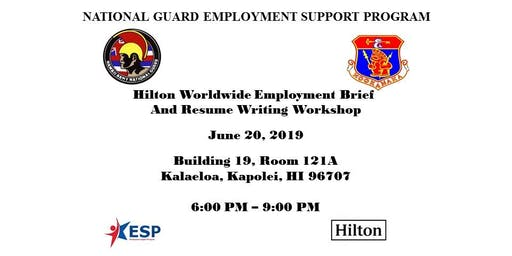 Hilton Worldwide Employment Brief and Resume Writing Workshop
