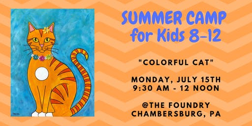 "Summer Camp for Kids - ""Colorful Cat"""