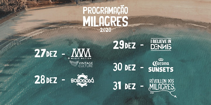 Imagem do evento Réveillon dos Milagres 2020 - Avulsos