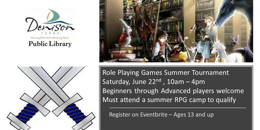 Role Playing Games Tournament - Ages 13 and up
