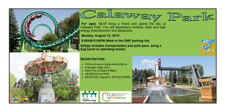 Calaway Park Summer Day Trip tickets