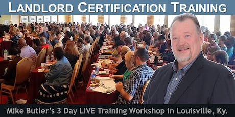 3 Day LIVE Landlord Certification Training tickets
