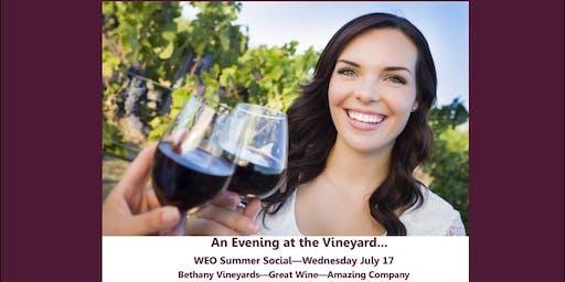 Women Entrepreneurs Org Jul 17 Social: An Evening at the Vineyard