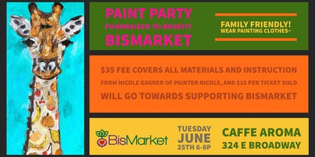 Paint Party Fundraiser to Benefit Bismarket tickets