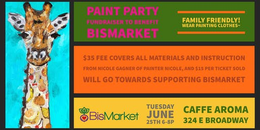Paint Party Fundraiser to Benefit Bismarket