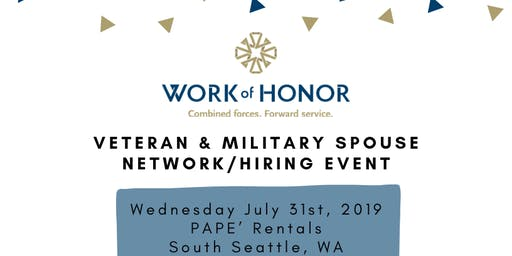 Work of Honor - Business Network / Hiring Event for Veterans, Military Spouses & Business Professionals!