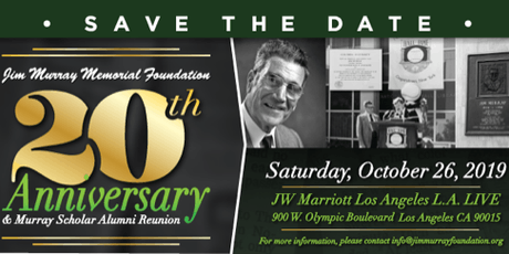 Jim Murray Memorial Foundation 20th Anniversary Gala tickets