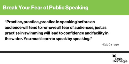 Break Your Fear of Public Speaking - Mississauga