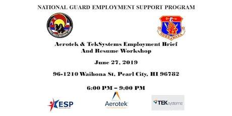 Aerotek & TekSystems Employment Brief and Resume Workshop tickets