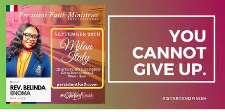 Milan Persistent Faith Conference  tickets