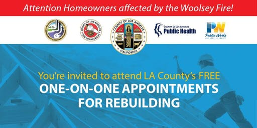 One-on-One Appointments for Rebuilding