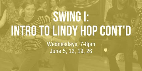 Swing I: Intro to Lindy Hop Cont'd tickets