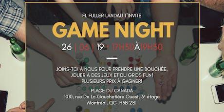 Game Night chez FL Fuller Landau billets