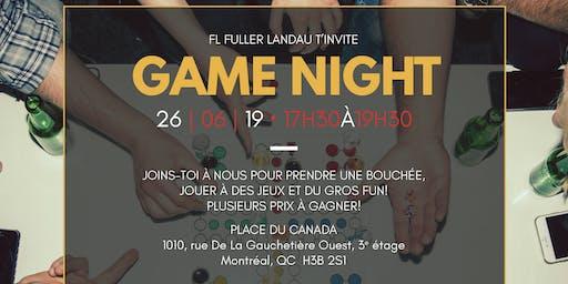 Game Night chez FL Fuller Landau