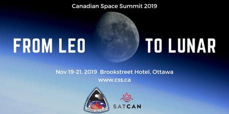 Canadian Space Summit 2019 tickets