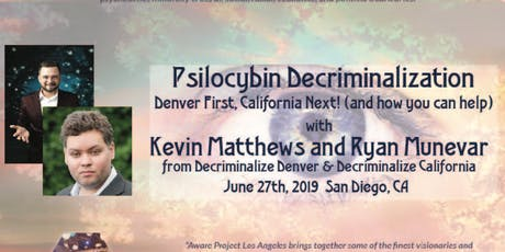 Psilocybin Decriminalization: Denver First, California Next! tickets