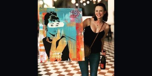 Audrey Paint and Sip Brisbane 3.8.19
