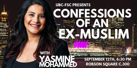Yasmine Mohammed: Confessions of an Ex-Muslim tickets