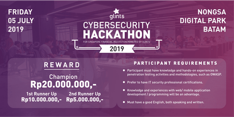 Cybersecurity Hackathon 2019 - Compete for total reward of IDR 35M! tickets