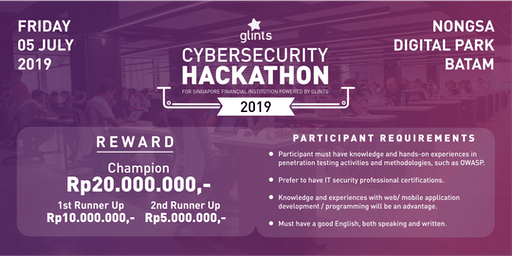 Cybersecurity Hackathon 2019 - Compete for total reward of IDR 35M!