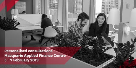 Personalised Consultations - Macquarie Applied Finance Centre - Melbourne tickets