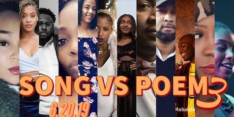 Poet's Lounge, Relationship Goals: Song vs Poem 3 tickets