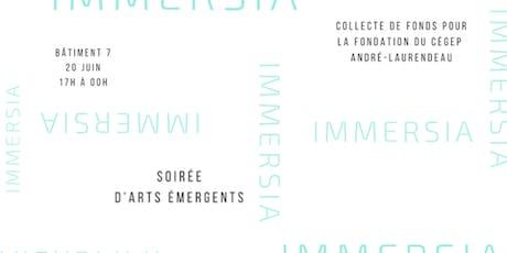 Immersia // Soirée d'arts émergents billets