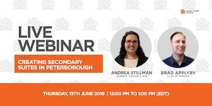 Creating Secondary Suites in Peterborough - Webinar
