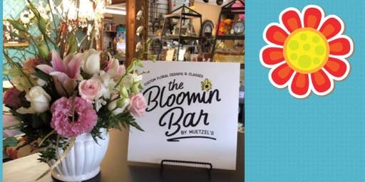 Floral arranging @ The Bloomin Bar