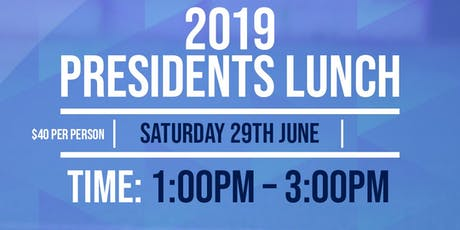 PRESIDENT'S LUNCH - JUNE tickets