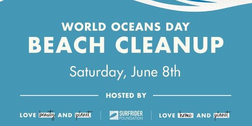 Community Beach Cleanup On World Oceans Day