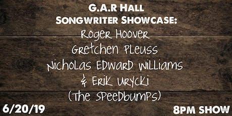 G.A.R. Hall Songwriter Showcase with host Erik Urycki tickets