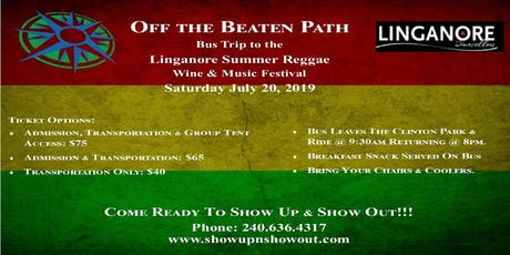 Off the Beaten Path's Bus Trip to the Linganore Summer Reggae Wine Festival tickets