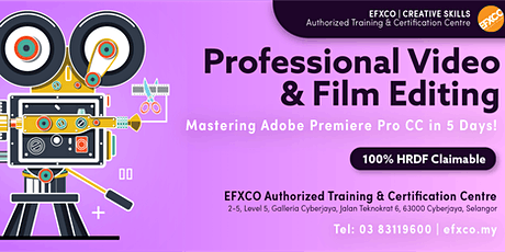 AUTHORISED TRAINING: Mastering Adobe Premier Pro CC in 5 Days! tickets