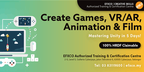 AUTHORISED TRAINING: Create Games, VR/AR, Animation & Film with Unity in 5 days! tickets