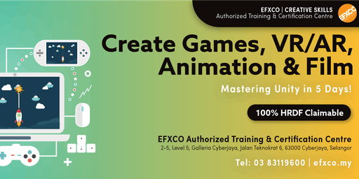 AUTHORISED TRAINING: Create Games, VR/AR, Animation & Film with Unity in 5 days!