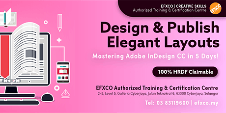 AUTHORISED TRAINING: Mastering Adobe InDesign CC in 5 Days! tickets
