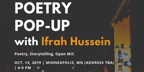POETRY POPUP with Ifrah Hussein tickets