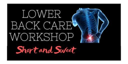 Lower Back Care Workshop Short and Sweet