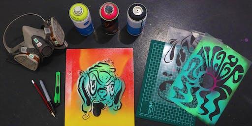 Stencil Street Art Workshop