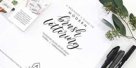 Beginners Brush Lettering Workshop at Cottonwood Home tickets