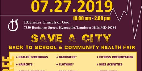 Annual Community Event- FREE BACK to SCHOOL SUPPLIES  & HEALTH FAIR  tickets